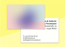 "Load image into Gallery viewer, business cards  – ""poudre"""