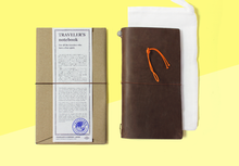Load image into Gallery viewer, TRAVELER'S COMPANY – Traveler's Notebook Regular - Brown