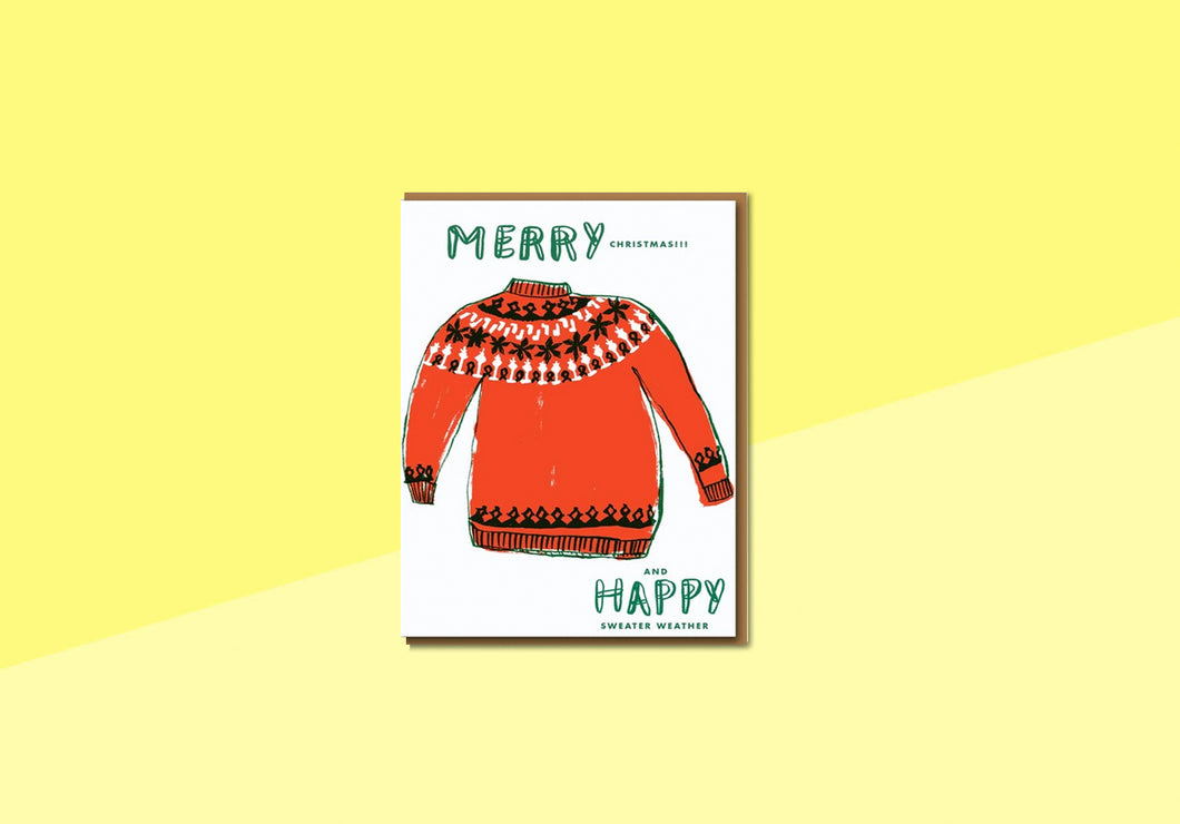 Greeting card - Nineteenseventythree - Merry Christmas Sweater