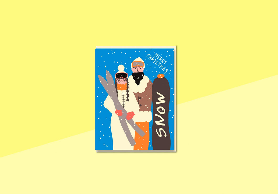 Greeting card - Nineteenseventythree - Christmas Ski Couple