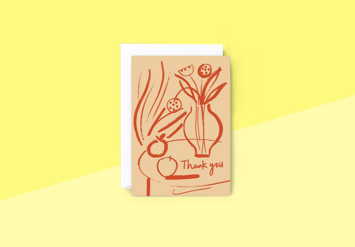 Wrap - Greeting card - Thank you