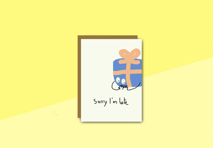 sous-bois - Greeting card - I'm late