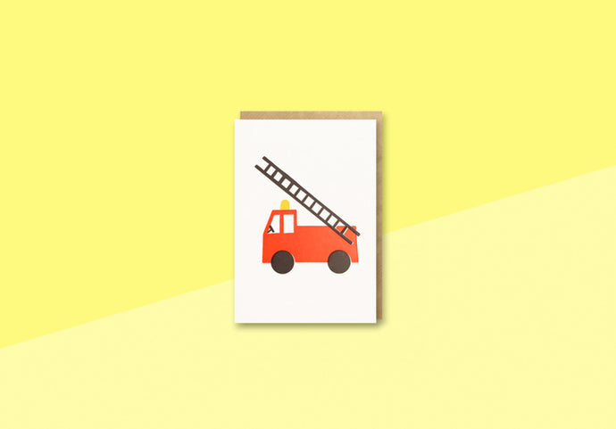 BITS AND BOBS - mini Greeting card -  Fire Truck