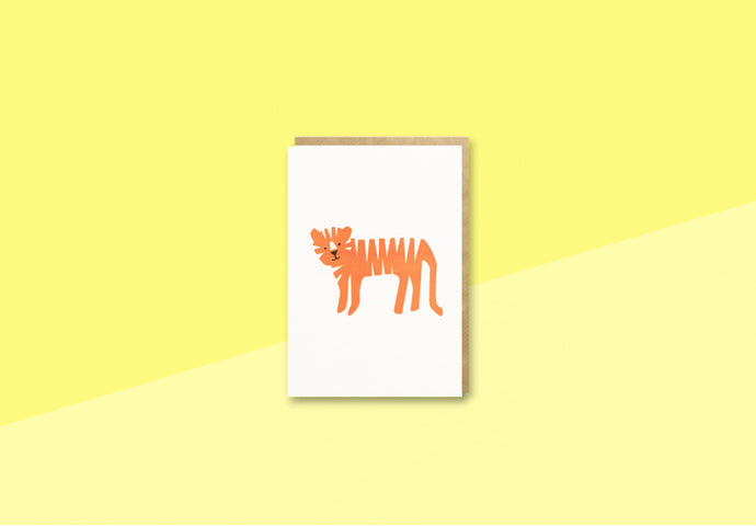 BITS AND BOBS - mini Greeting card - Tiger