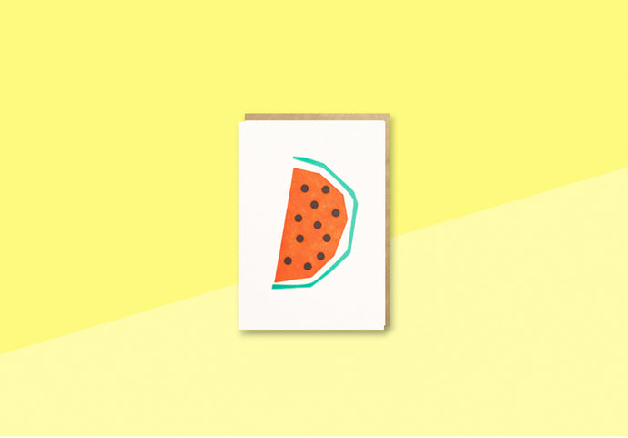 BITS AND BOBS - mini Greeting card - Watermelon
