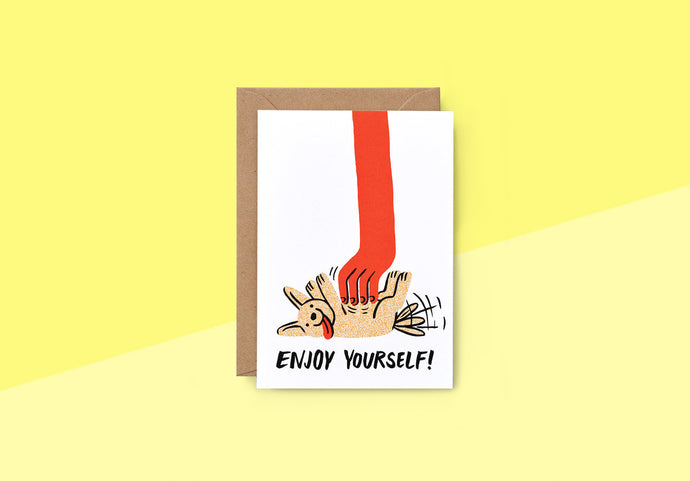 Wrap - Greeting card - Enjoy Yourself
