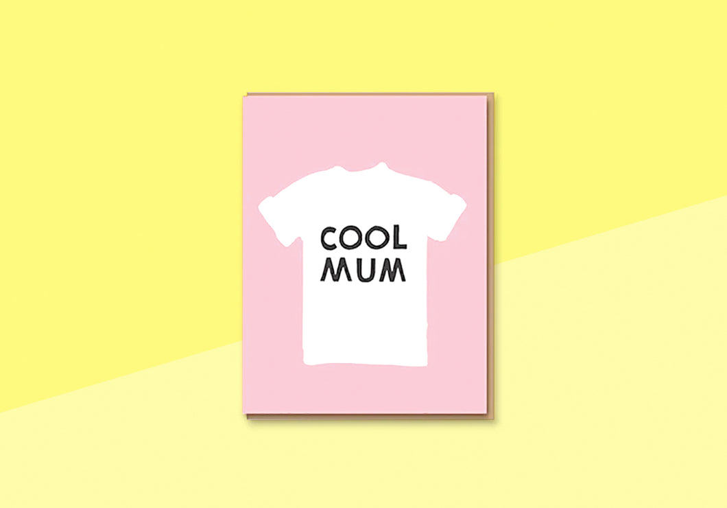 Letterpress - Greeting card - Cool Mum