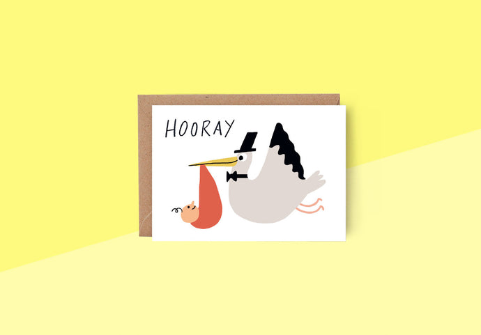 Wrap - Greeting card - Hooray