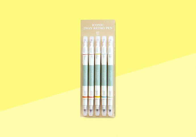 ICONIC - 2 Way Retro Pen Set
