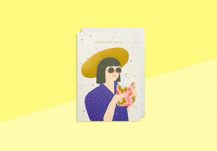 JENNIFER BOURON - Greeting Card - Happy Birthday summer