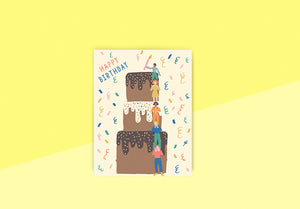 Letterpress - Greeting card - Emma Cooter, cake tower