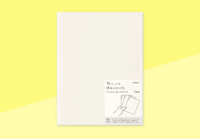 MIDORI - Notebook Light (3pcs pack) A4 Variant - Blank