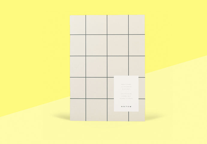 NOTEM - Milo Weekly Planner Book - Light Gray