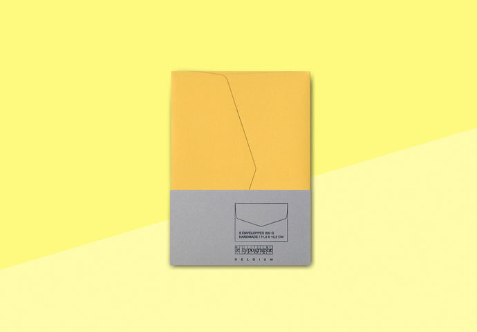 Le Typographe - Pack of 5 envelopes - YELLOW