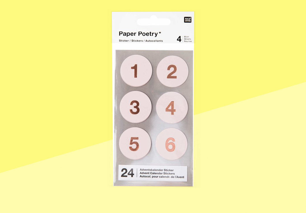 Paper Poetry - advent stickers - rose