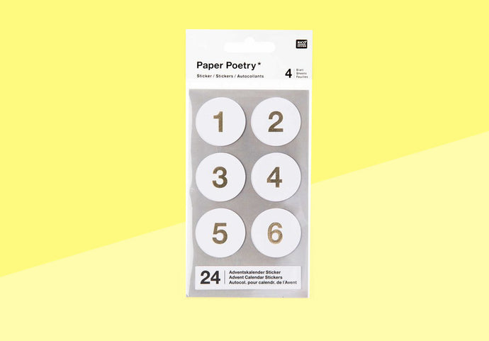 Paper Poetry - advent stickers - white