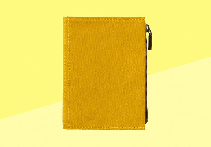 *PREORDER* - TRAVELER'S COMPANY -  Traveler's Notebook passport - cotton zipper case Mustard