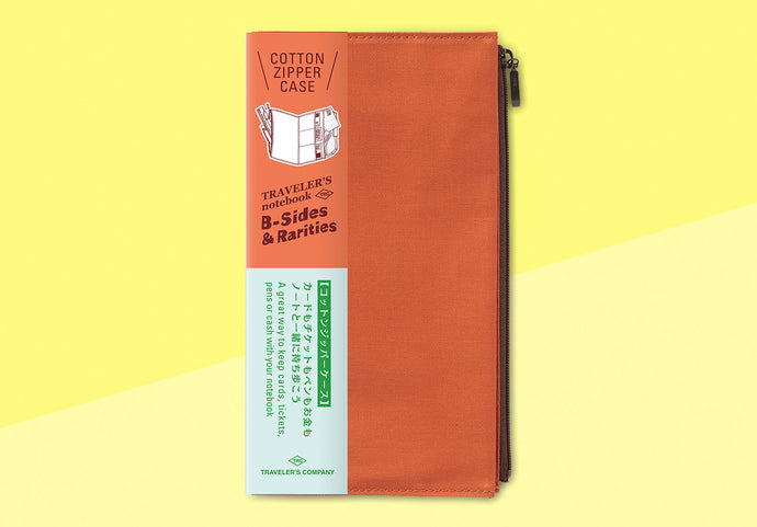 *PREORDER* - TRAVELER'S COMPANY -  Traveler's Notebook regular - cotton zipper case orange