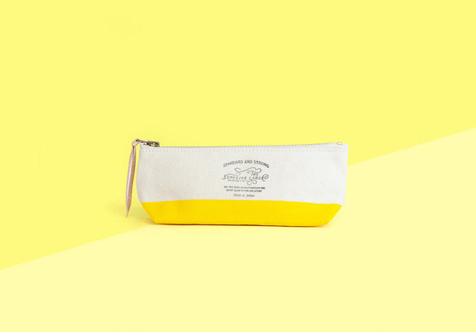 The Superior Labor - Canvas Pencil Pouch - yellow