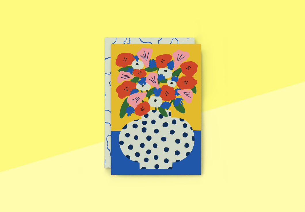 Wrap - Greeting card - Thank you Flowers