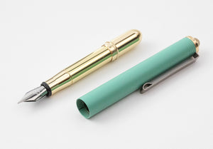 Traveler's Company - Brass Fountain Pen Limited Edition Factory Green