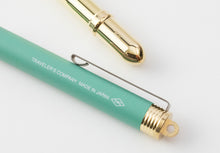 Load image into Gallery viewer, Traveler's Company - Brass Rollerball Pen Limited Edition Factory Green