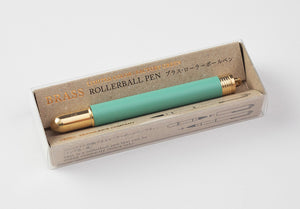 Traveler's Company - Brass Rollerball Pen Limited Edition Factory Green