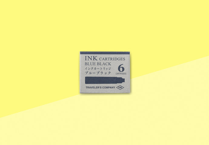 TRAVELER'S COMPANY – TRC FOUNTAIN PEN Ink Cartridges Blue Black