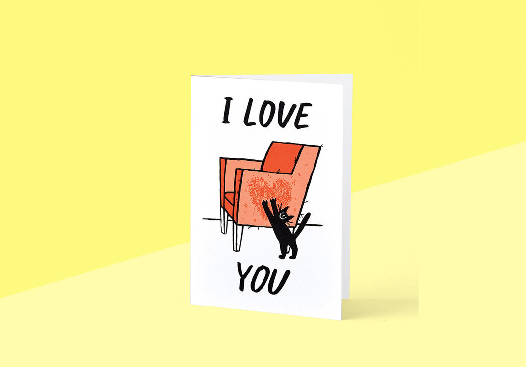 Wrap - Greeting card - Cat Love