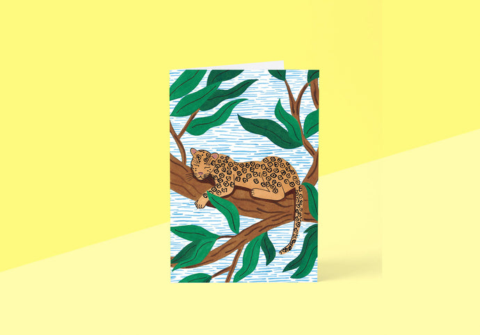 Wrap - Greeting card - Leopard