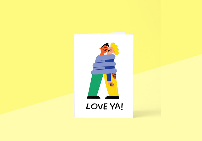 Wrap - Greeting card - Love Ya