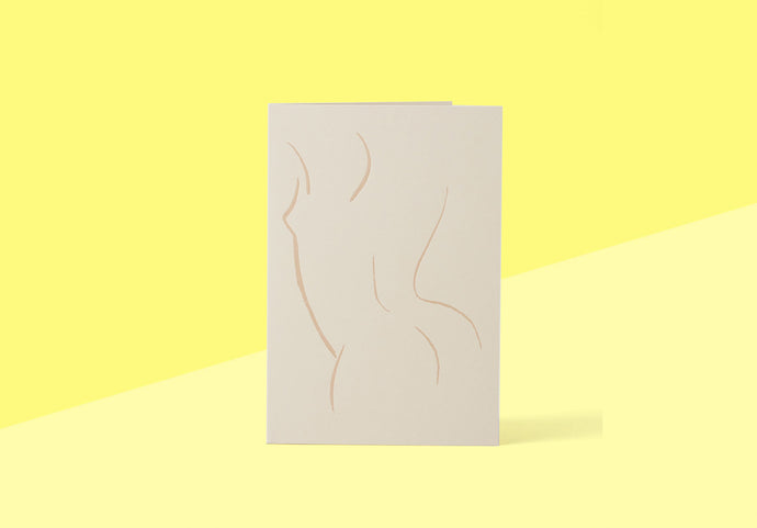 Wrap - Greeting card - Nude from Behind