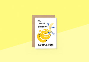 Wrap - Greeting card - Have Fun Banana