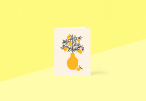 Wrap - Greetings card - Lemon Tree