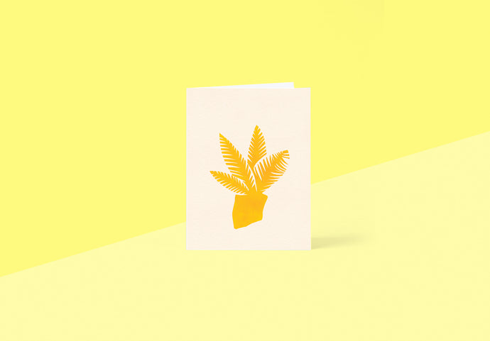 Wrap - Greetings card - Yellow Plant