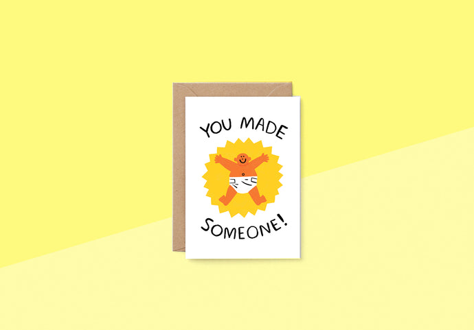 Wrap - Greeting card - You Made Someone