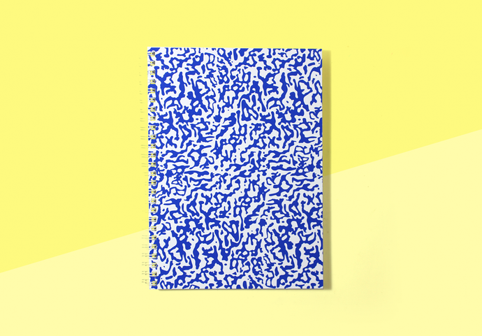 Wrap - 'Ripple Blue/White' Large Notebook