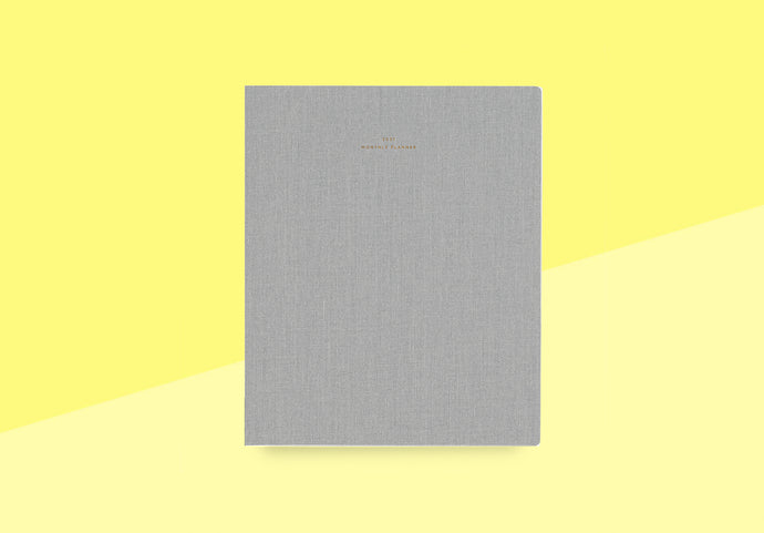 Appointed - 2021 monthly planner - dove gray