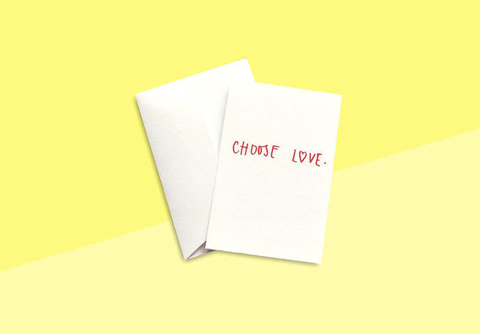 AVIS ET TIGRIS - Card - Choose love
