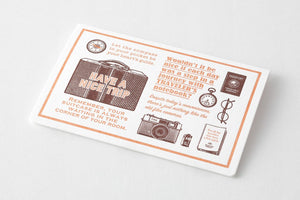 Traveler's company – limited edition letterpress card brown