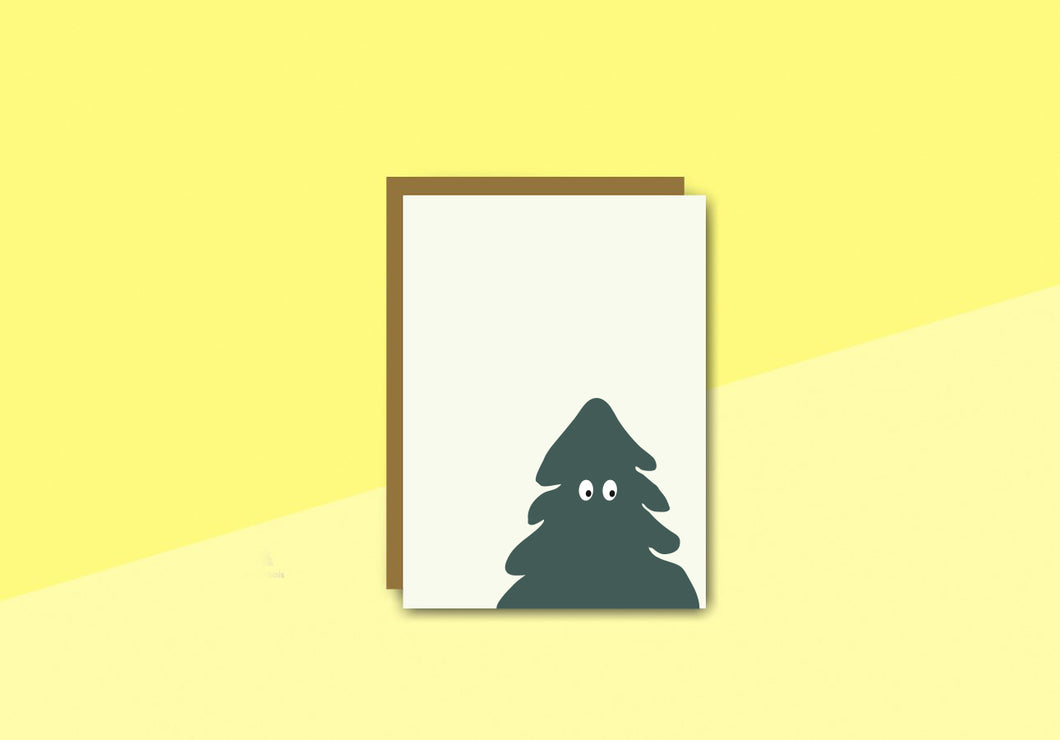 sous-bois - Greeting card - sapin