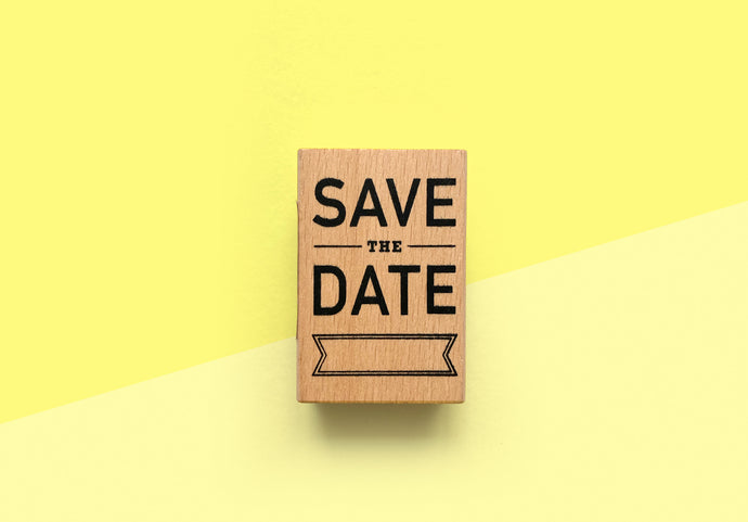 Paper Poetry - Stamp - SAVE THE DATE