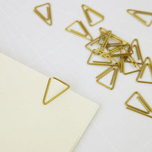 Load image into Gallery viewer, Monograph - Paper Clip - gold triangle