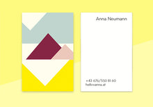 "Load image into Gallery viewer, business cards  – ""pyramid"""