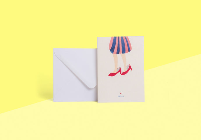 SEASON PAPER COLLECTION - Card - souliers maman