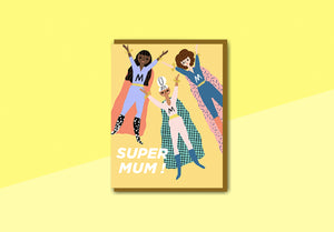 Nineteenseventythree - Greeting Card - Super Mom