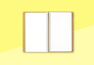 TRAVELER'S COMPANY - Spiral Ring Notebook - A5 Slim Watercolor Paper