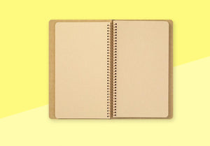 TRAVELER'S COMPANY - Spiral Ring Notebook - A5 Slim DW Kraft