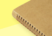 Load image into Gallery viewer, TRAVELER'S COMPANY - Spiral Ring Notebook - A6 Slim DW Kraft