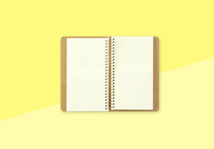 TRAVELER'S COMPANY - Spiral Ring Notebook - A6 Slim Paper Pocket